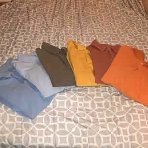 Lot of 6 Men's 2XL collared shirts
